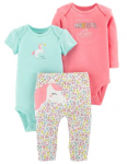 Baby Girl Carter's 3-piece. Unicorn Bodysuit & Pants Set $10.99 (REG $22.00)
