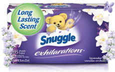 105 CT Snuggle Exhilarations Fabric Softener Sheets Pack $4.46 (REG $8.99)