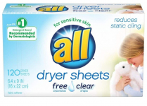 120 CT all Fabric Softener Dryer Sheets Pack $3.97 (REG $10.10)