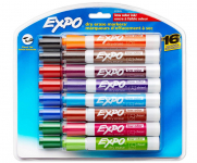 16 PC EXPO Low Odor Dry Erase Markers Pack $12.83 (REG $24.99)