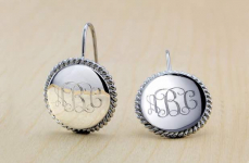 Nice! 18-Karat White Gold Personalized Earrings Only $12.99! Normally $99.99!