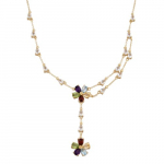 18k Yellow Gold Plated Sterling Silver Multi-Gemstone Flower Necklace Just $33.23 (reg. $255)