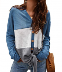 GET 55% Off Using PROMO CODE – $12.60 Women's Long Sleeve Waffle Knit Shirts