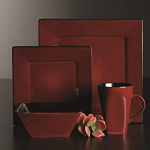 Gibson Elite Kiesling 16 Piece Dinnerware Set, Red $29.52 (REG $84.99)