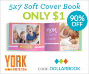 York Photo: Custom 5X7 Soft Cover Book Only $1.00!