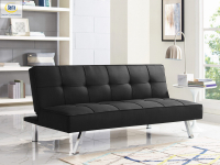 3-Seat Multi-function Upholstery Fabric Sofa, Black