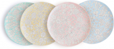Dorotea Hand Painted Salad Plate, 8-Inch, Set of 4, Assorted – 5215284 $18.61 (REG $55.00)