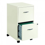 2 Drawers Steel Vertical Lockable Filing Cabinet(Pearl White) $68.99 (REG $159.99)
