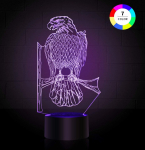3D Illusion Lamp Smart Touch 7 Colors Changing Night Light