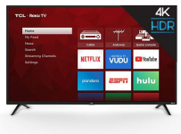 TCL 75″ Class 4K UHD LED Roku Smart TV -$678 (43% Off)