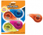 4 CT BIC Clean Wite-Out Correction Tape Set $5.48 (REG $12.95)