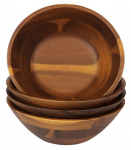 4 PC Acacia 7″ Wooden Salad Bowls Set $29.99 (REG $129)