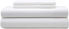 100% Pure Egyptian Cotton Plain White 4 Piece Bed Sheets Set $26.99 (REG $99.99)
