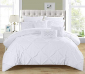 complete Queen Bed In a Bag Comforter Set White With sheet set $92.31 (REG $224.00)
