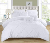 Chic Home 10 Piece Hannah Pinch Pleated, ruffled and pleated complete Queen Bed $92.76 (REG $224.00)