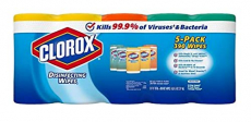 Variety | 5 Tubes, 78 Wipes in Each Tube | 3 Flavors | 390 Disinfecting Wipes $24.98 (REG $89.00)