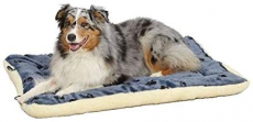 Reversible Paw Print Pet Bed in Blue & White Synthetic Fur for Dogs & Cats $28.25 (REG $59.99)