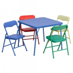 Flash Furniture Kids Colorful 5 Piece Folding Table and Chair Set $49.98 (REG $115.00)