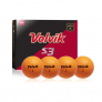 4 Pack Volvik S3 Golf Balls, Orange -$19.99(46% Off)