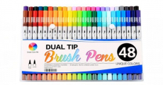 Best Price! 48-Pack Smart Color Art Dual Tip Brush Pens Set Just $26.65 Shipped!