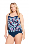 Women's Plus Size Blouson Tummy Hiding Tankini Top Swimsuit $39.97 (REG $79.95)