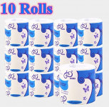 Sehrgud 10 Rolls Toilet Paper Soft Strong Toilet Tissue Home Kitchen 3 Layers $6.99 (REG $30.99)