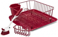 Rubbermaid Antimicrobial Sinkware Set, 4 Pieces, Red FG1F91MARED $18.36 (REG $28.05)