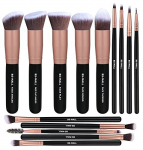 BS-MALL Makeup Brushes Premium Synthetic (14 Pcs, Rose Golden) $15.99 (REG $35.99)