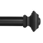 Window Curtain Rod – Square Design 1 1/8 Rod. 72 to 144 Inch. Black $31.99 (REG $60.85)