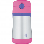 Thermos Foogo Vacuum Insulated Stainless Steel Straw Bottle, Pink/Purple $10.55 (REG $18.99)