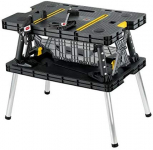 Keter Folding Table Work Bench For Woodworking Tools w/ Clamps $64.00 (REG $109.99)