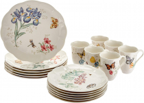 Lenox Butterfly Meadow 18-Piece Dinnerware Set, Service for 6, White $159.47 (REG $390.00)