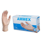 AMMEX Medical Clear Vinyl Gloves, Box of 100, 4 mil, Size Medium, Latex Free, $5.10 (REG $7.75)