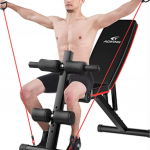 Foldable Workout Bench Adjustable Sit Up, Flat Fly Press Fitness Rope (78% Off)