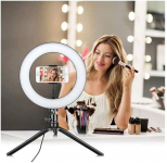 LED Ring Light 6.3″ with Tripod Stand & Phone Holder $23.19(80% Off)