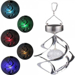Solar Power Colorful 7 Colors Changing Wind Chime Rotating LED Hanging Light $7.22 (REG $13.88)