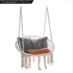 uookboy Hammock Hanging Chair Macrame Swing Handmade Swing Chair $39.99 + $25.99 shipping (REG $129.99)
