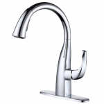 WOWOW High Arc Pull Down Faucet 1 or 3 Hole Single Handle Kitchen Faucet $78.99 (REG $159.98)