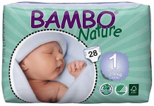 Bambo Nature Eco Friendly Baby Diapers Classic for Sensitive Skin, Size 1 (4-9 lbs), 28 Count $8.40 (REG $14.79)