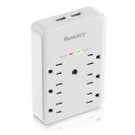 Huntkey 6 AC Outlets Surge Protector with 2 USB Charging Ports 3.4 Amp $13.59 (REG $29.99)