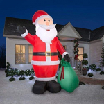Airblown Inflatables 39845 Santa with Gift Sack Christmas Airblown GIANT 12 FT TALL $69.99 (REG $119.99)