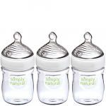 NUK Simply Natural Baby Bottle, Clear, 5 Ounce (Pack of 3) $8.59 (REG $17.99)