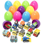 Toy Filled Easter Eggs Filled with Pull-Back Construction Vehicles $18.99 (REG $39.99)