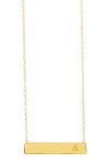 14K Yellow Gold Vermeil Bar Initial Necklace – A-Z Available $29.97 (REG $92.00)