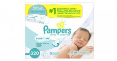 Amazon: 5x Refill Packs of Pampers Sensitive Baby Wipes Just $1.48/Pack Shipped!