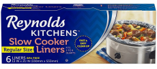 6 PC 13 x 21″ Reynolds Premium Slow Cooker Liners $2.60 (REG $4.99)