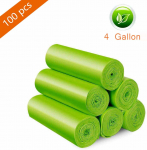 LIGHTNING DEAL!!! 4 Gallon Trash bags Recycling & Degradable Small Garbage Bags$7.00 (REG $19.15)