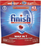 Finish – Max in 1 – 43ct – Dishwasher Detergent – Powerball – Dishwashing Tablets $9.33 (REG $19.98)