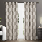 Exclusive Home Curtains Akola Medallion Linen Jacquard Grommet Top Curtain Panel Pair $19.81 (REG $47.94)