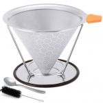 Stainless Steel Cone Coffee Filters w/ Pour Over Cup Stand $22.98 (REG $39.99)
